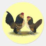Belgian d'Anvers Bantams:  Quail Round Stickers