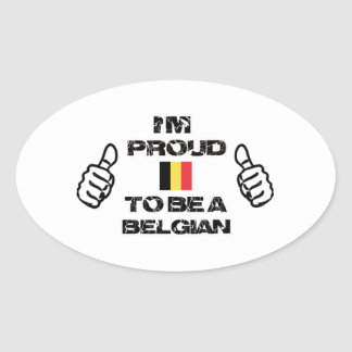 Belgian Design Oval Sticker