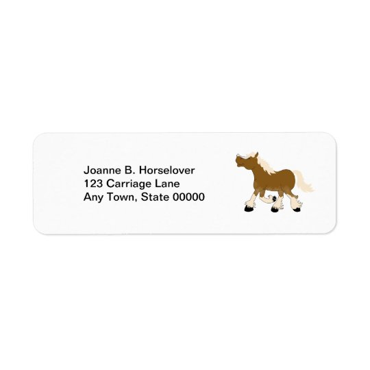 BELGIAN DRAFT HORSE Custom Return Address Return Address Label