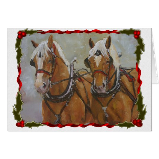 Belgian Draught   Horse Christmas Card