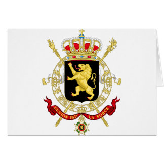 Belgian Emblem - Coat of Arms of Belgium Card