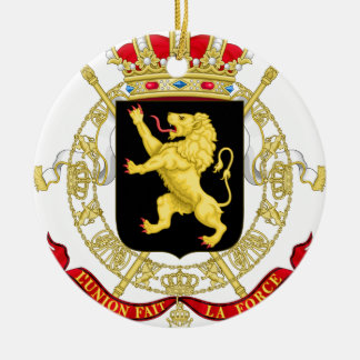 Belgian Emblem - Coat of Arms of Belgium Ceramic Ornament