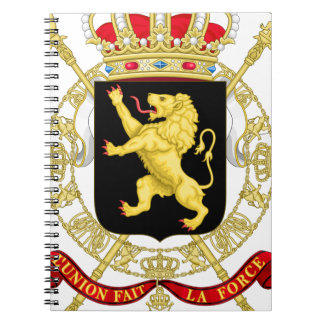 Belgian Emblem - Coat of Arms of Belgium Notebook