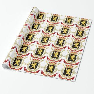 Belgian Emblem - Coat of Arms of Belgium Wrapping Paper