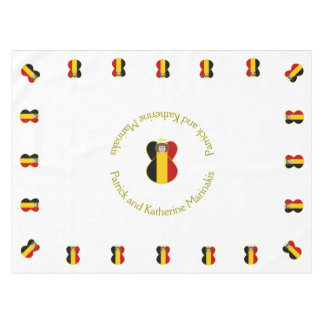 Belgian Flag Angel Brown Hair Tablecloth