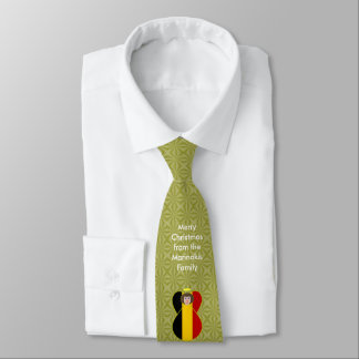 Belgian Flag Christmas Angel Tie