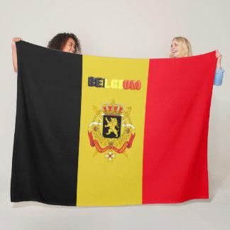 Belgian flag fleece blanket