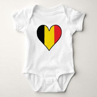 Belgian Flag Heart Baby Bodysuit