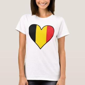 Belgian Flag Heart T-Shirt
