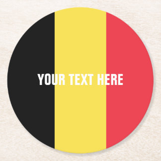 Belgian flag of Belgium paper drink coasters