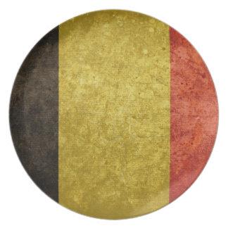 Belgian Flag Plates