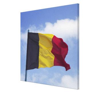Belgian flag RF) Canvas Print