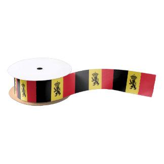Belgian flag ribbon satin ribbon