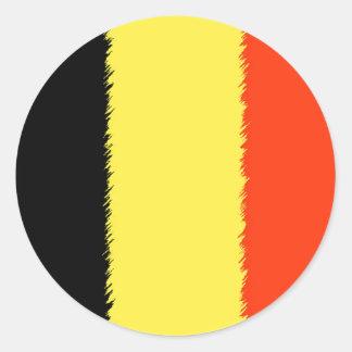 Belgian Flag Round Sticker