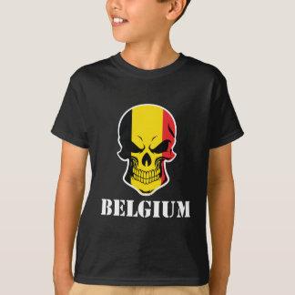 Belgian Flag Skull Belgium T-Shirt