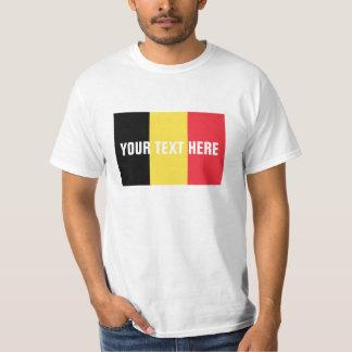 Belgian flag t shirts | Custom Belgium merchandise