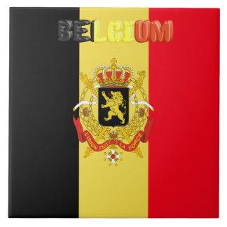 Belgian flag tile