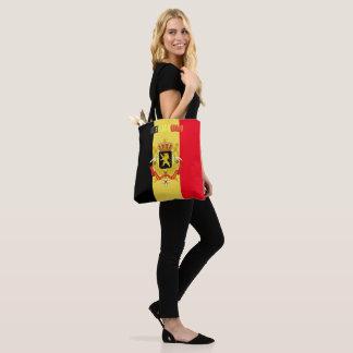 Belgian flag tote bag