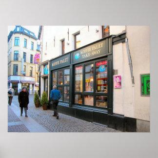 Belgian food, Coffee Shop, Antwerp Poster
