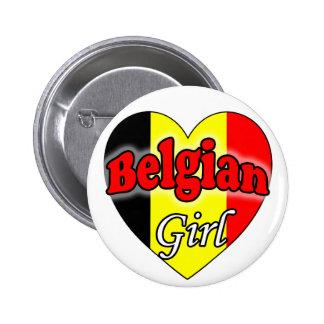 Belgian Girl 2 Inch Round Button