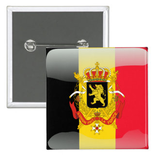 Belgian glossy flag 2 inch square button