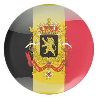 Belgian glossy flag dinner plate