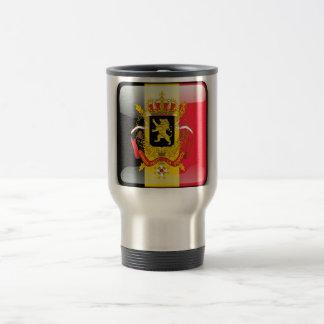 Belgian glossy flag travel mug