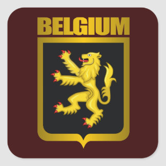 """Belgian Gold"" Square Sticker"
