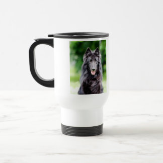 Belgian Groenendael dog, belgian shepherd photo Travel Mug