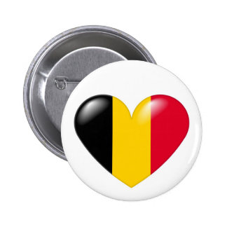 Belgian heart button - Coeur belge