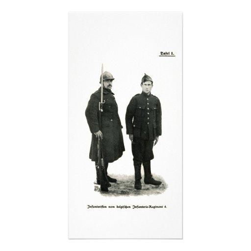 Belgian Infantry, World War I Custom Photo Card