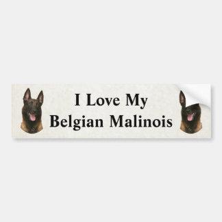 belgian malinois bumper sticker