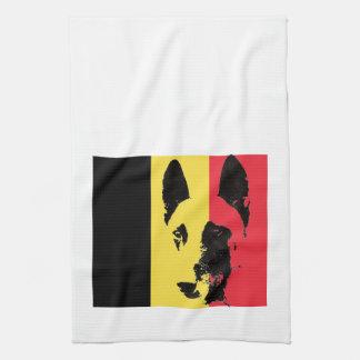 Belgian Malinois Flag hand towel