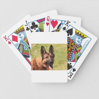 Belgian Malinois German Shepherd Bicycle Playing Cards