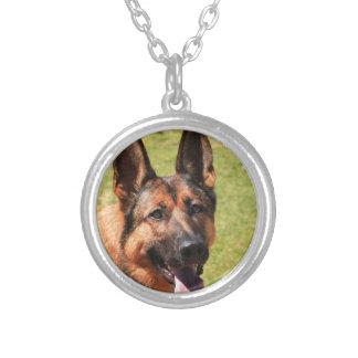 Belgian Malinois German Shepherd Silver Plated Necklace