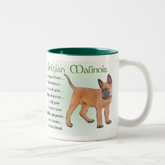 Belgian Malinois Gifts Two-Tone Coffee Mug