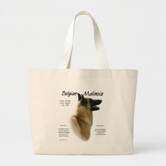 Belgian Malinois History Design Large Tote Bag