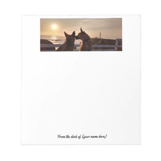 Belgian Malinois & lighthouse notepad