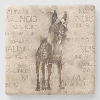 Belgian Malinois - Mechelaar  - Maligator Stone Coaster