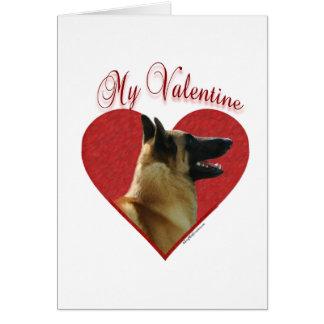 Belgian Malinois My Valentine Card