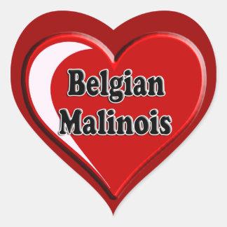 Belgian Malinois on Heart for dog lovers Heart Sticker