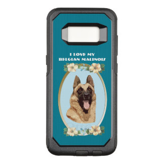 Belgian Malinois on Teal Floral OtterBox Commuter Samsung Galaxy S8 Case