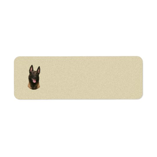 belgian malinois return address label