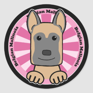 Belgian Malinois Round Sticker