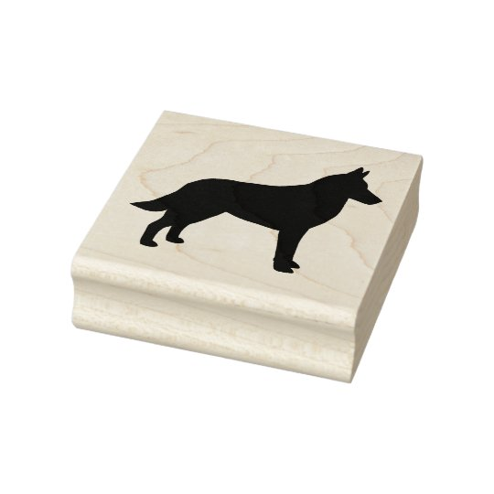 Belgian Malinois Silhouette Rubber Stamp