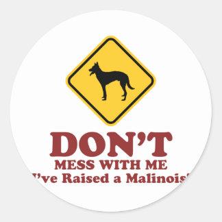 Belgian Malinois Round Sticker