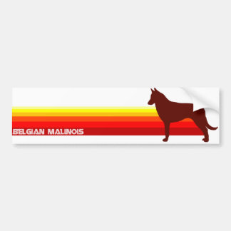 Belgian Malinois With Stripes Bumper Sticker