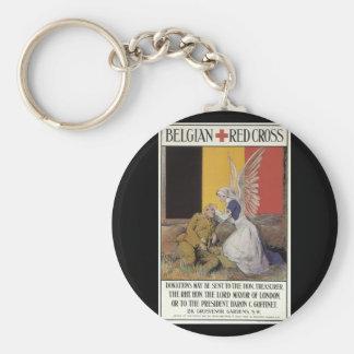 Belgian Red Cross (unknown)_Propaganda Poster Basic Round Button Keychain
