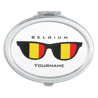 Belgian Shades custom pocket mirror Makeup Mirrors