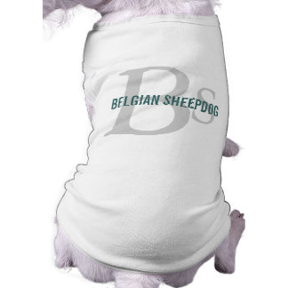 Belgian Sheepdog Breed Monogram Dog Tshirt